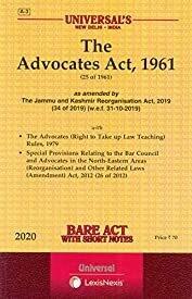 The Advocates Act, 1961- Bare Act with Short Notes