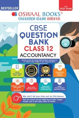 Buy e-book: Oswaal CBSE Question Bank Class 12 Accountancy Book Chapterwise & Topicwise Includes Objective Types