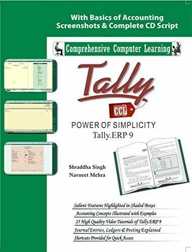 Tally ERP 9 (Power Of Simplicity)  (With Youtube AV) by Shraddha Singh, Navneet Mehra