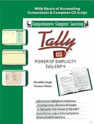 Tally ERP 9 (Power Of Simplicity)  (With Youtube AV) by Shraddha Singh, Navneet Mehra