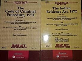 Combo Bare Acts the code of criminal procedure,1973,the indian Evidence Act,1872