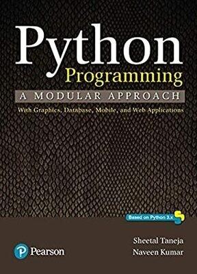Python Programming |A modular approach  by Taneja Sheetal and Kumar Naveen