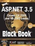 ASP.NET 3.5COVERS C  VB 2008 CODES BLACK BOOK PLATINUM ED by BLACK BOOK, PLATINUM ED ASP.NET 3.5:COVERS C# & VB 2008 CODES