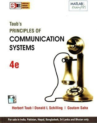 Principles of Communication Systems SIE 4E by Herbut Taub