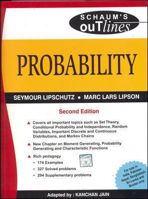PROBABILITY Schaums Outlines Series by Seymour Lipschutz