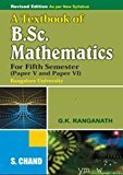 A Textbook of B.Sc. Mathematics Part - 5  6 by G.K. Ranganath