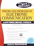 Theory and Problems of Electronic Communication Schaums Outlines Series by Lloyd Temes