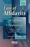 Law of Affidavits - With More Than 200 Model Forms of Affidavits by S. Parameswaran