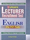 Lecturer Recruitment Test English by Surya Pal Yadav