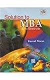 Solution To MBA by Semester F