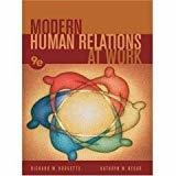 Modern Human Relations at Work by Richard M. Hodgetts