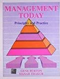 MANAGEMENT TODAYPrinciples and Practice by Gene Burton