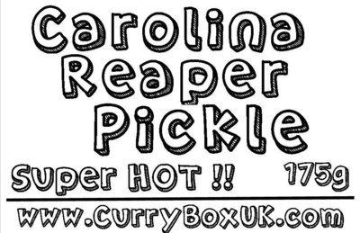 Carolina Reaper Pickle  SUPER HOT !!  Jar 175g