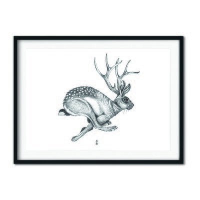 The Jackalope A3 Poster Print