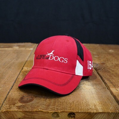 A Life of Dogs Twill Race Hat - Red