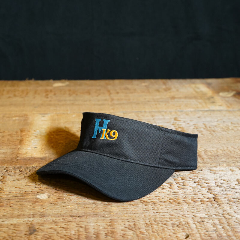 Visor - Black with Teal and Gold Logo