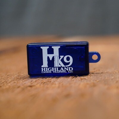 Imprinted Translucent Training Clicker - Highland Canine Logo (various colors)