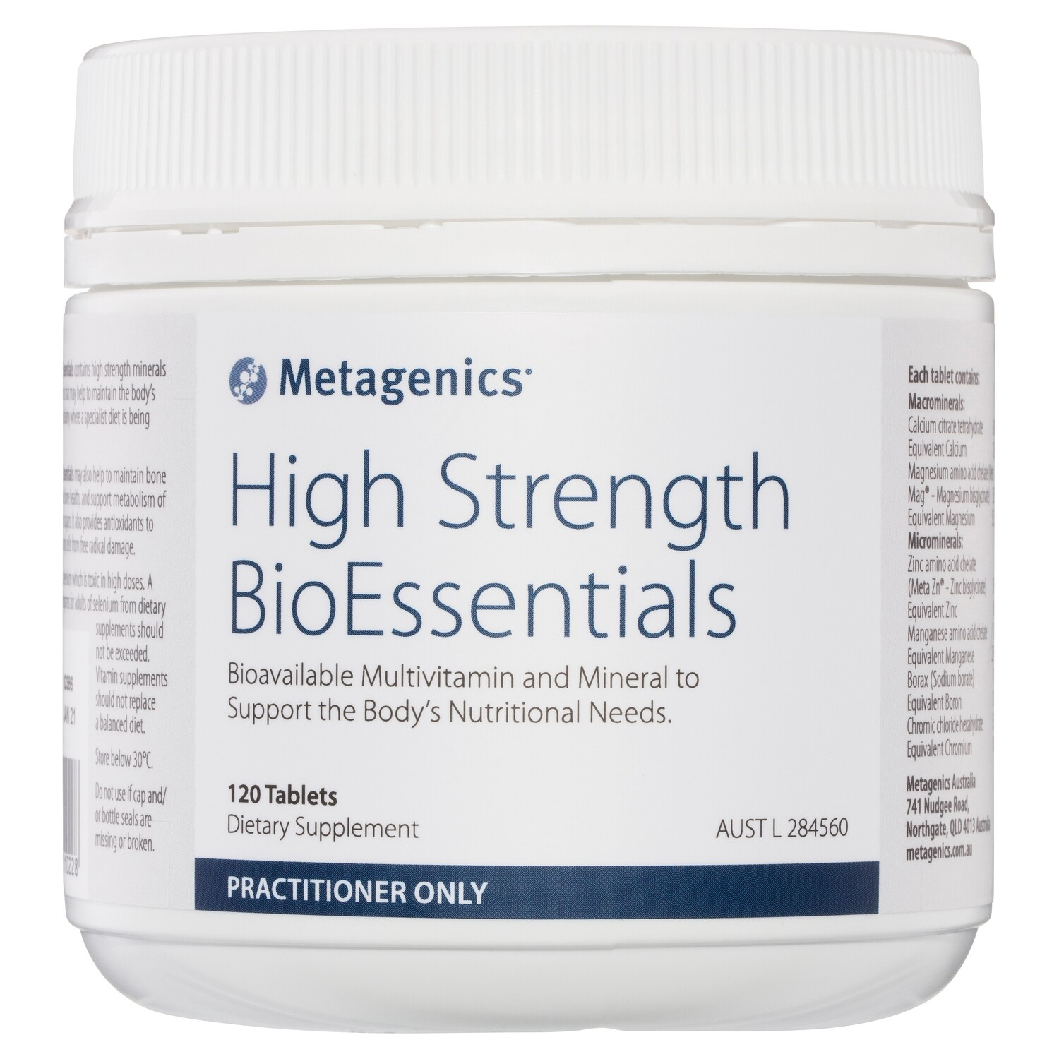 High Strength BioEssentials 120 tablets