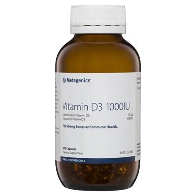 Vitamin D3 1000IU 270 capsules