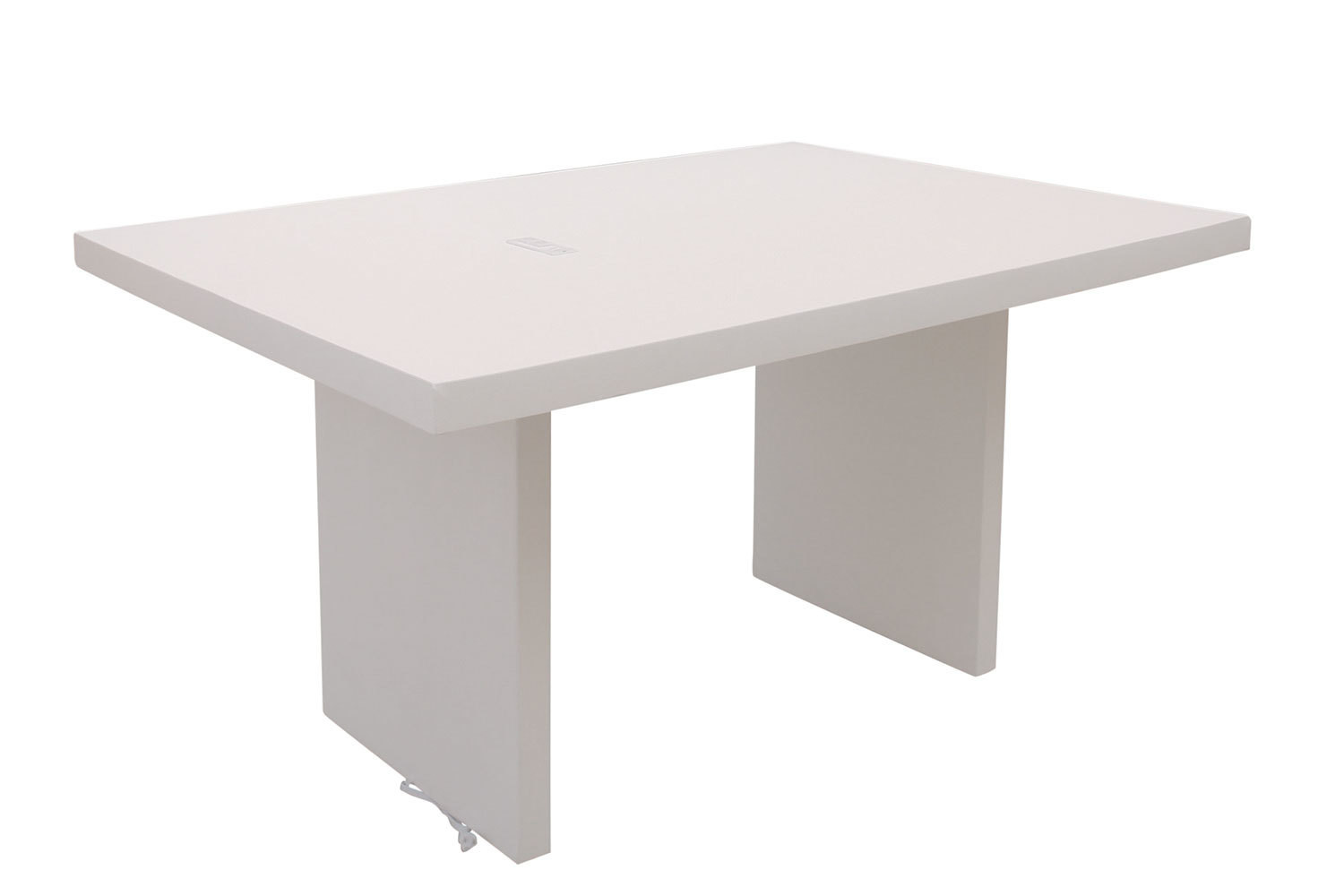 5' White Charging Conference Table