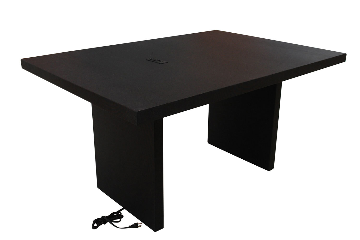 5' Black Charging Conference Table
