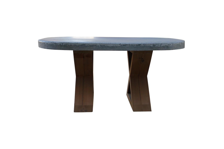 Concrete Oval Cocktail Table