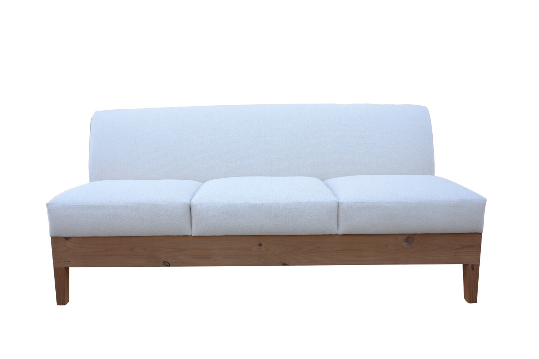 Wood Base Armless Sofa