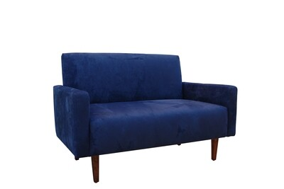 Blue Suede Sofa