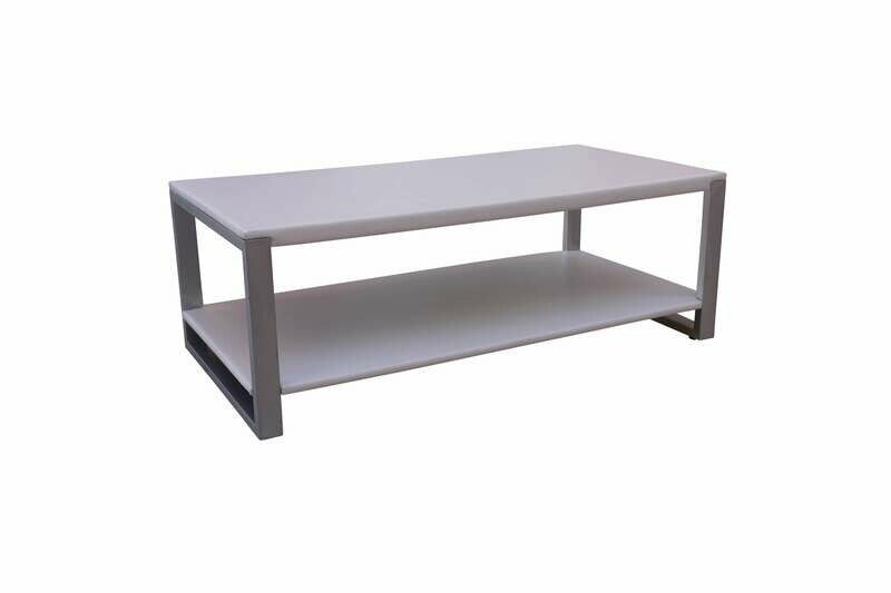 White Steel Rectangle Coffee Table