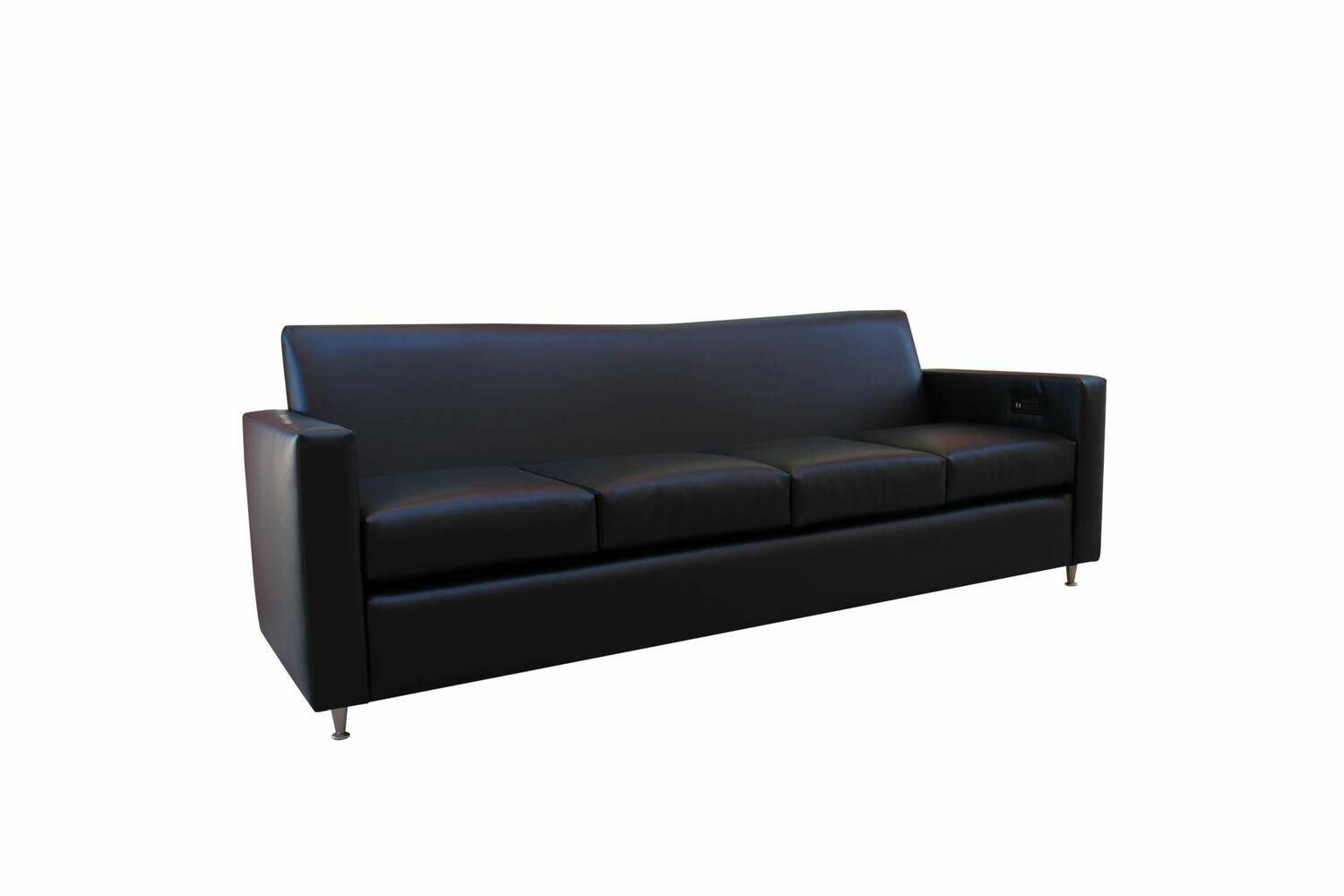 Black Tech Charging Sofa