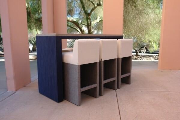 Resort Style 7 Piece Bar Table Set-1 6' Bar Table, 3 Backless Barstools, 3 Barstools