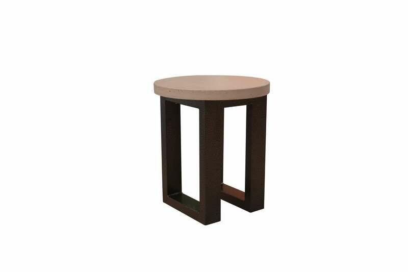 Concrete & Metal Accent Table