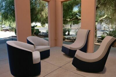 Resort Style 4 piece Chair Set-2 Rocking Lounge Chairs & 2 Swivel Chairs