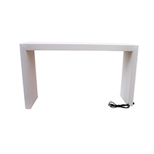 White 6' Charging Pedestal Table