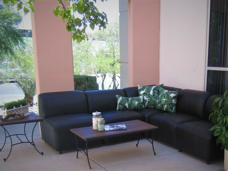 Black Modular Rental Package-Seating for 8