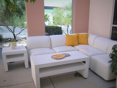 White Modular Rental Package-Seating for 10