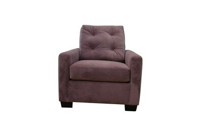 Gray Button Suede Chair