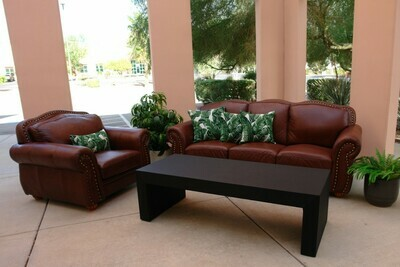 Leather Rental Package-Seating for 8