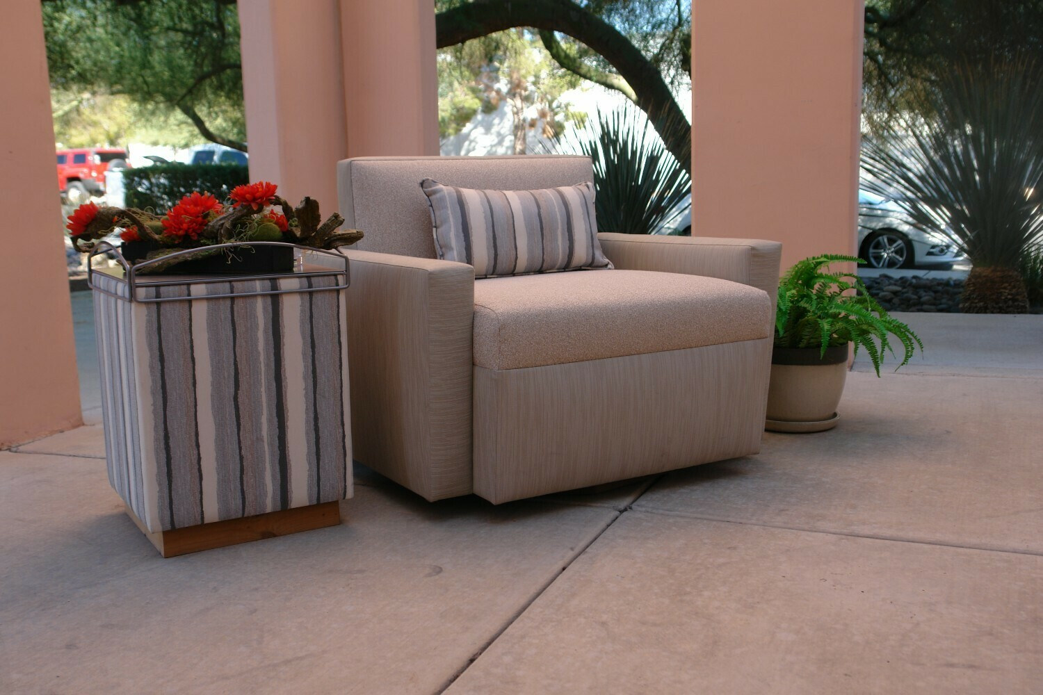 Poolside Chair and a Half with Table Set-Samples