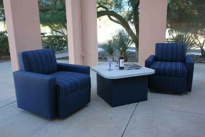 Armed Swivel Chairs & Table Set