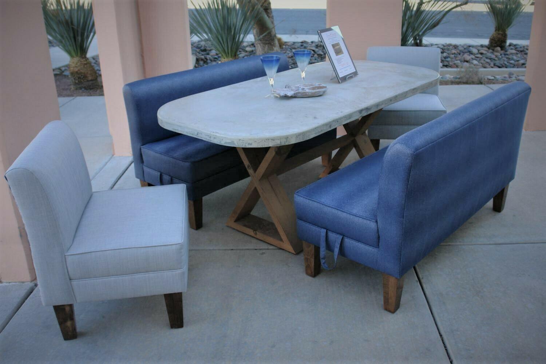 Concrete Dining Table Set