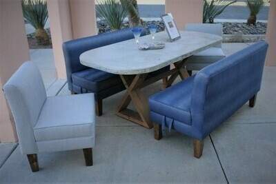 Concrete Dining Table Set