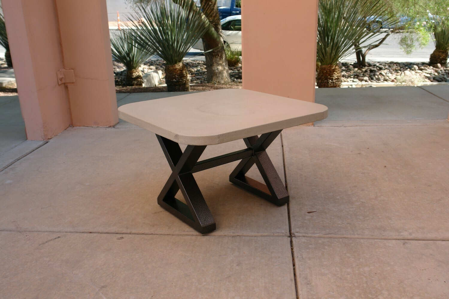 Concrete & Metal Scround Cocktail or Corner Table