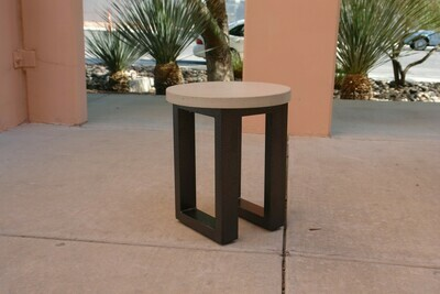 Concrete & Metal Accent Table
