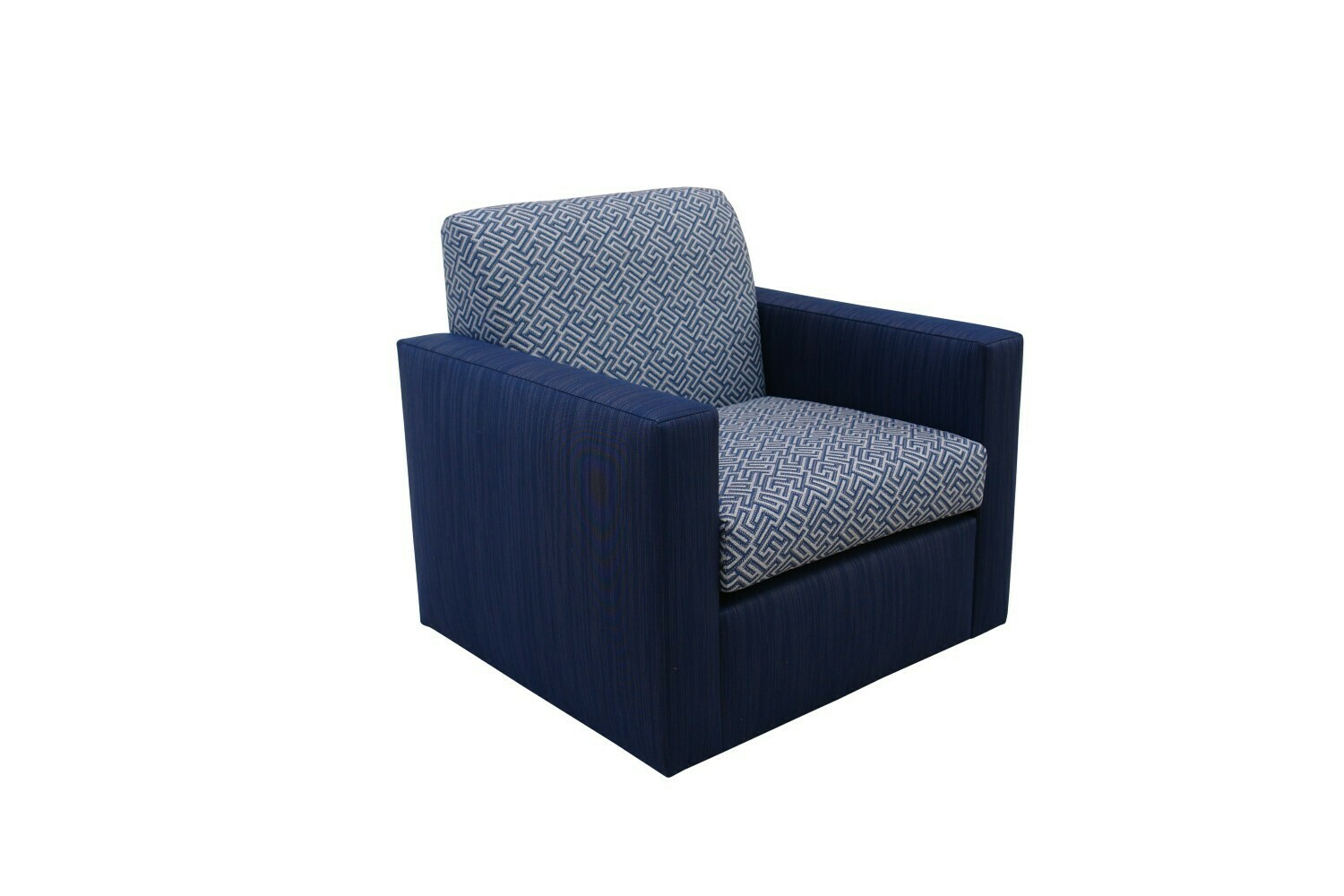 Square Swivel Arm Chair