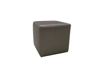 Pewter Cube Ottoman