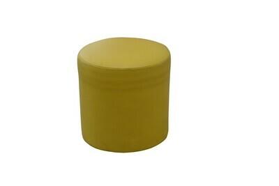 Yellow Round Ottoman