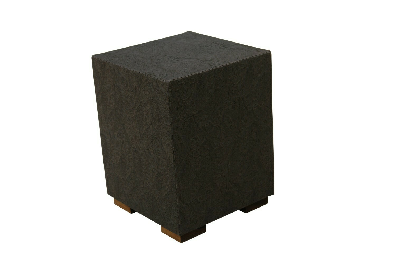 Embossed Graphite Accent Table