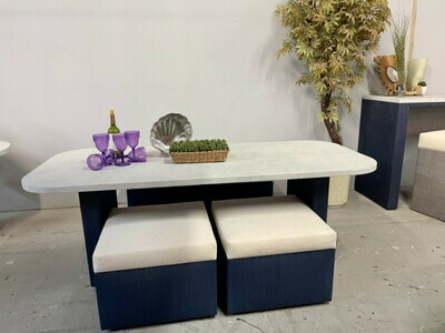 Resort Style Dining with Ottomans Set-Samples