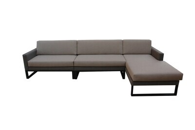 Wood Frame Fabric Wrapped L-Shaped Sectional